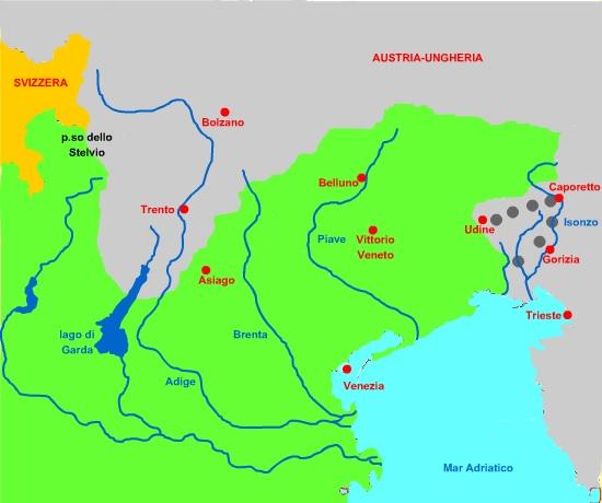 Dalmazia Italiana Cartina.Prima Guerra Mondiale