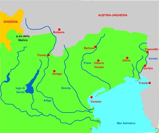 Cartina 1914.Prima Guerra Mondiale
